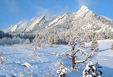 Flatirons in winter.