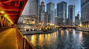 Wacker Drive at Chicago River