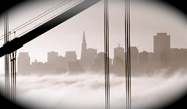 San Francisco fog and grey