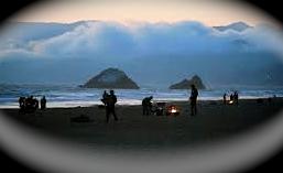 Ocean Beach at night