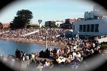 Aquatic Park crowd